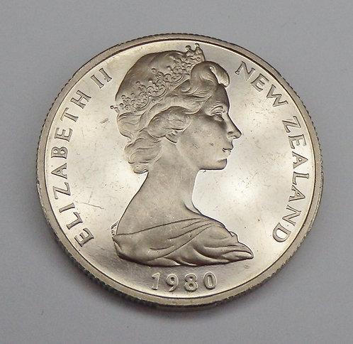 New Zealand - 50 Cents - 1980