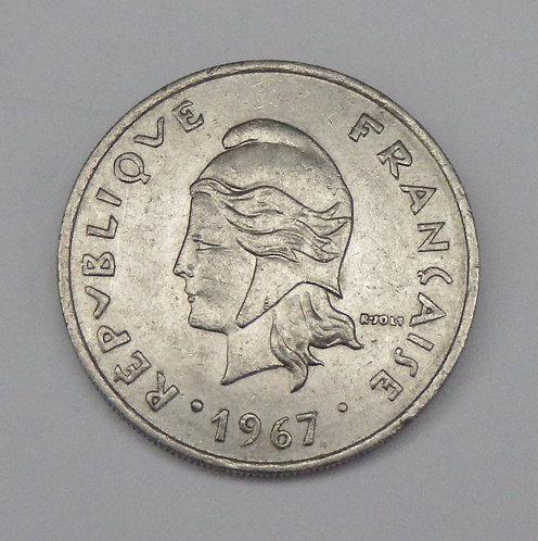 French Polynesia - 20 Francs - 1967