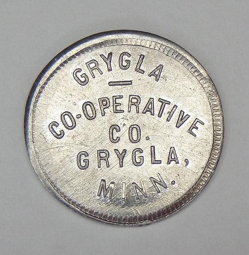Minnesota, Grygla - Grygla Co-operative Co. Token