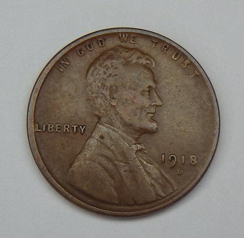 1918-D Wheat Cent
