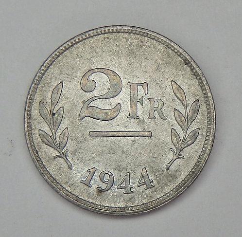 Belgium - 2 Francs - 1944