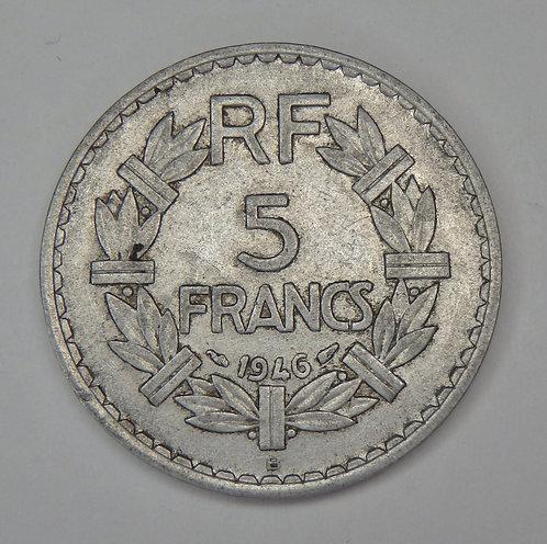 France - 5 Francs - 1946