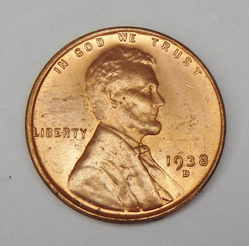 1938-D Lincoln Cent