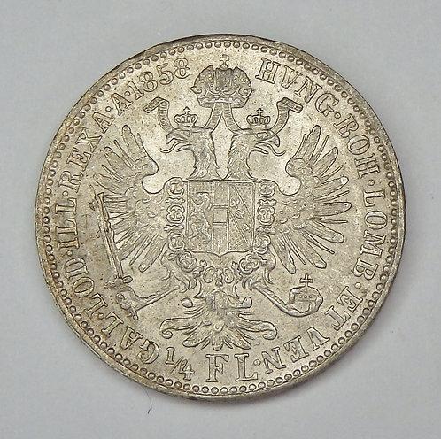 Austria - 1/4 Florin - 1858-A