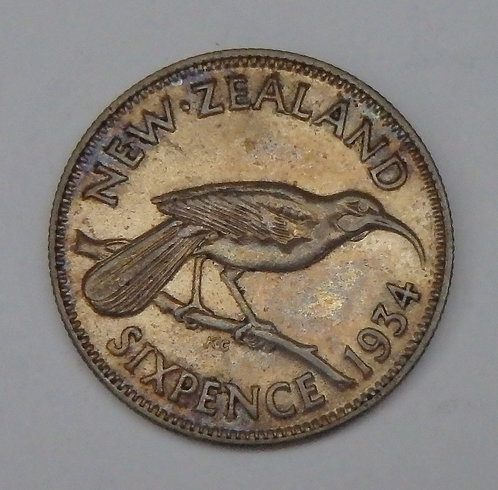 New Zealand - 6 Pence - 1934
