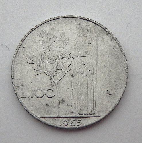 Italy - 100 Lire - 1965-R