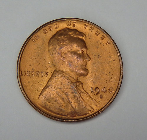 1940-S Wheat Cent