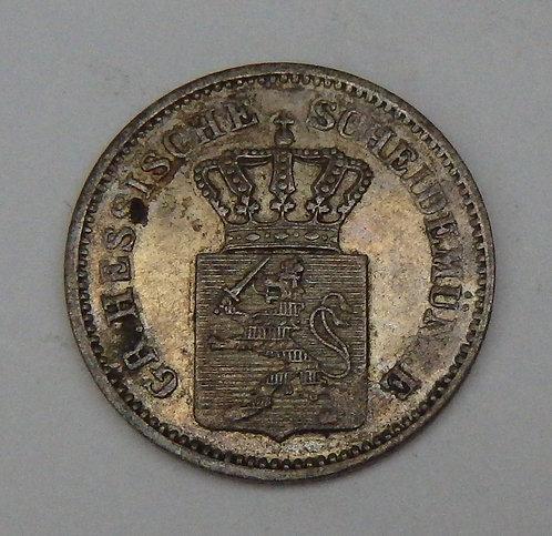 Germany-Hesse-Darmstadt - Kreuzer - 1867