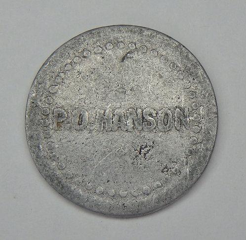 Minnesota, Hartland - P.O. Hanson Token