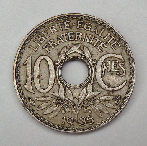 France - 10 Centimes - 1935