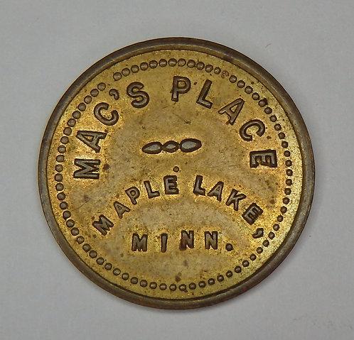 Minnesota, Maple Lake - Mac's Place Token