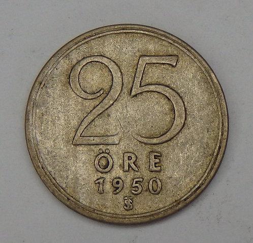 Sweden - 25 Ore - 1950-TS