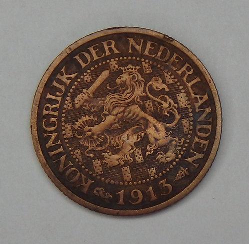 Netherlands - Cent - 1913