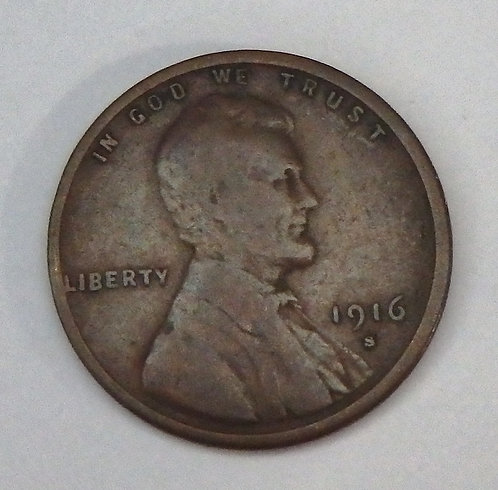 1916-S Wheat Cent
