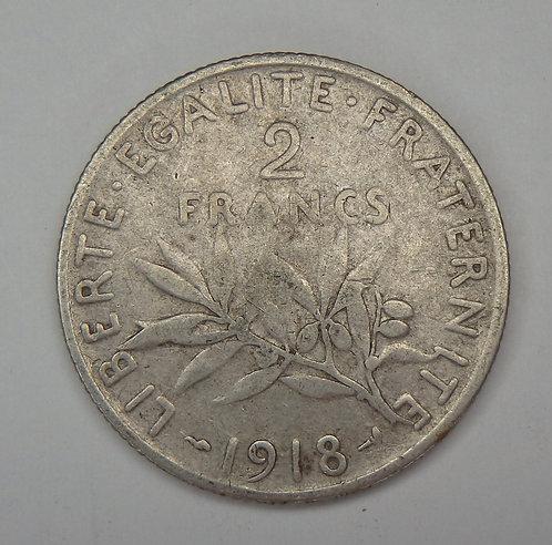France - 2 Francs - 1918