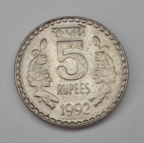 India - 5 Rupees - 1992