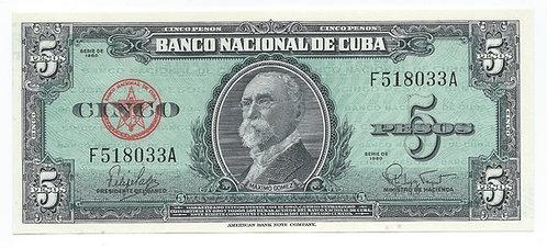 Cuba - 5 Pesos - 1960