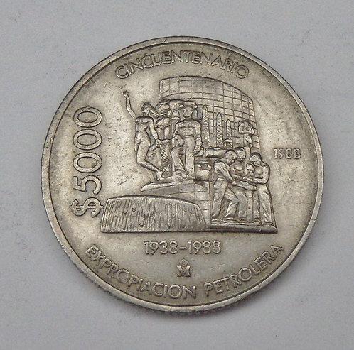 Mexico - 5000 Pesos - 1988Mo