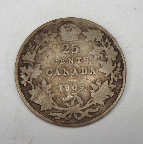 Canada - 25 Cents - 1909