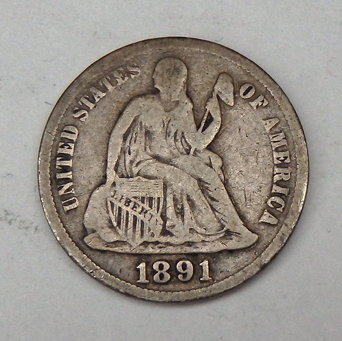 1891-S Seated Liberty Dime