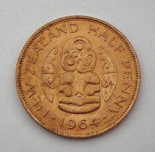 New Zealand - Half Penny - 1964