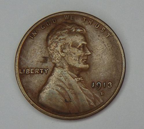 1913-D Wheat Cent