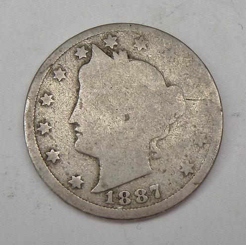 1887 Liberty V Nickel