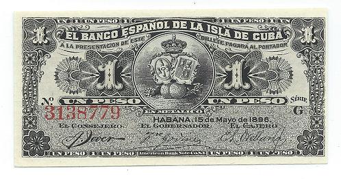 Cuba - Peso - 1896