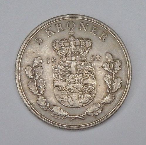 Denmark - 5 Kroner - 1960