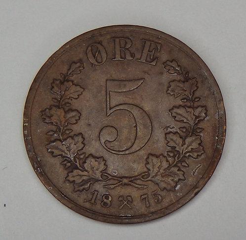 Norway - 5 Ore - 1875