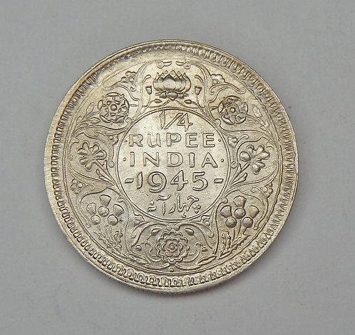 British India - 1/4 Rupee - 1945
