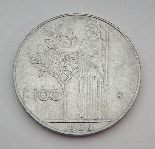 Italy - 100 Lire - 1968-R