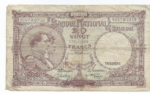 Belgium - 20 Francs - 1941