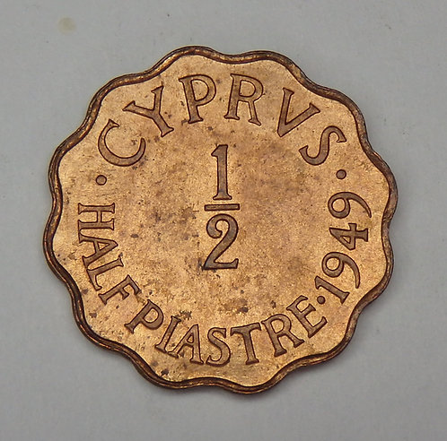 Cyprus - 1/2 Piastre - 1949