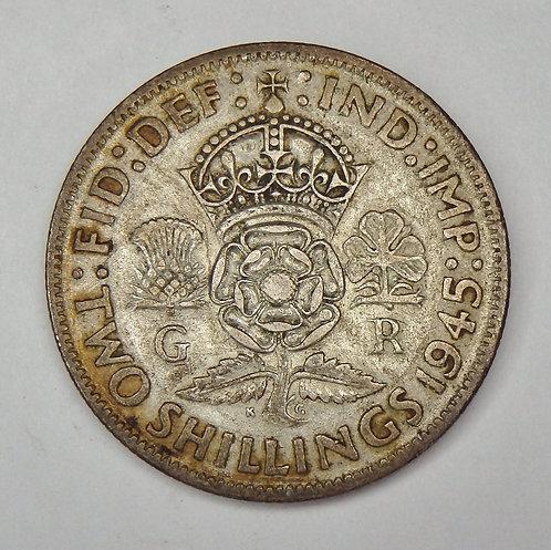 Great Britain - 2 Shillings - 1945