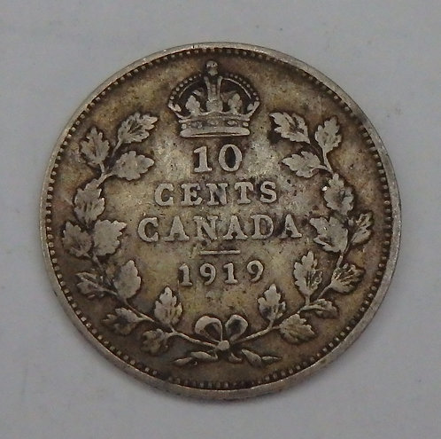 Canada - 10 Cents - 1919