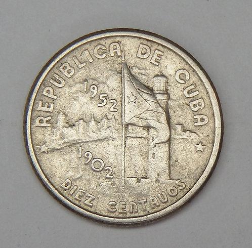 Cuba - 10 Centavos - 1952