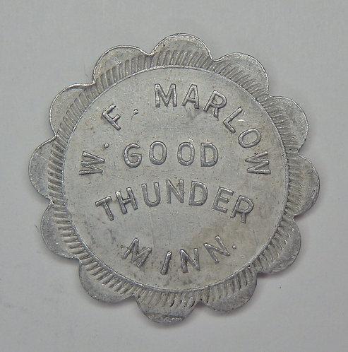 Minnesota, Good Thunder - W.F. Marlow Token