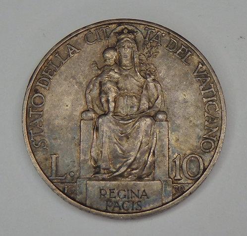 Vatican - 10 Lire - 1930