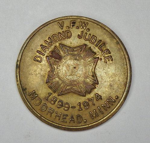 Minnesota, Moorhead - VFW Post 1223 Diamond Jubilee Token
