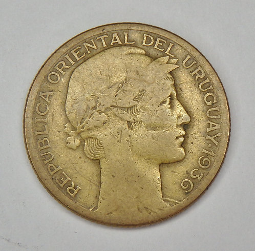 Uruguay - 10 Centesimos - 1936