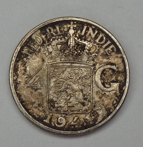 Dutch East Indies - 1/4 Gulden - 1941-P