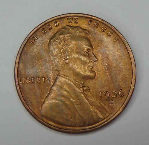 1936-D Wheat Cent
