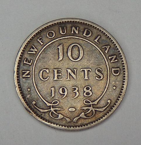 Canada-New Foundland - Dime - 1938