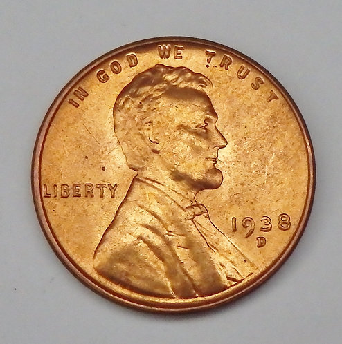 1938-D  Wheat Cent