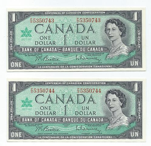Canada - Commemorative Dollars - 1967