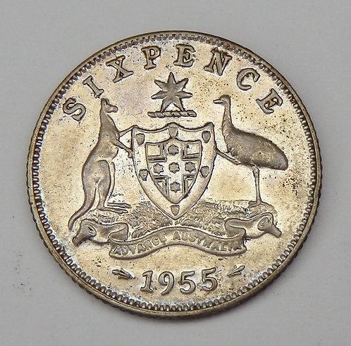 Australia - 6 Pence - 1955