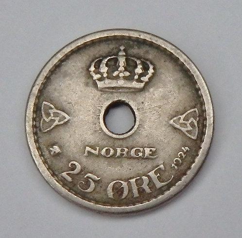 Norway - 25 Ore - 1924