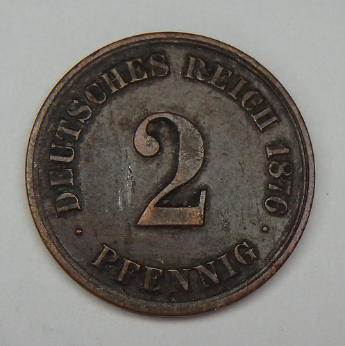 Germany - 2 Pfennig - 1876-A