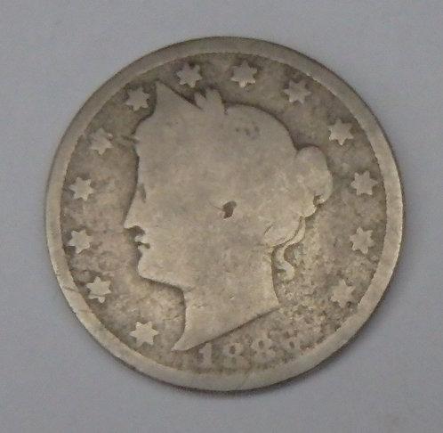 1886 V Nickel